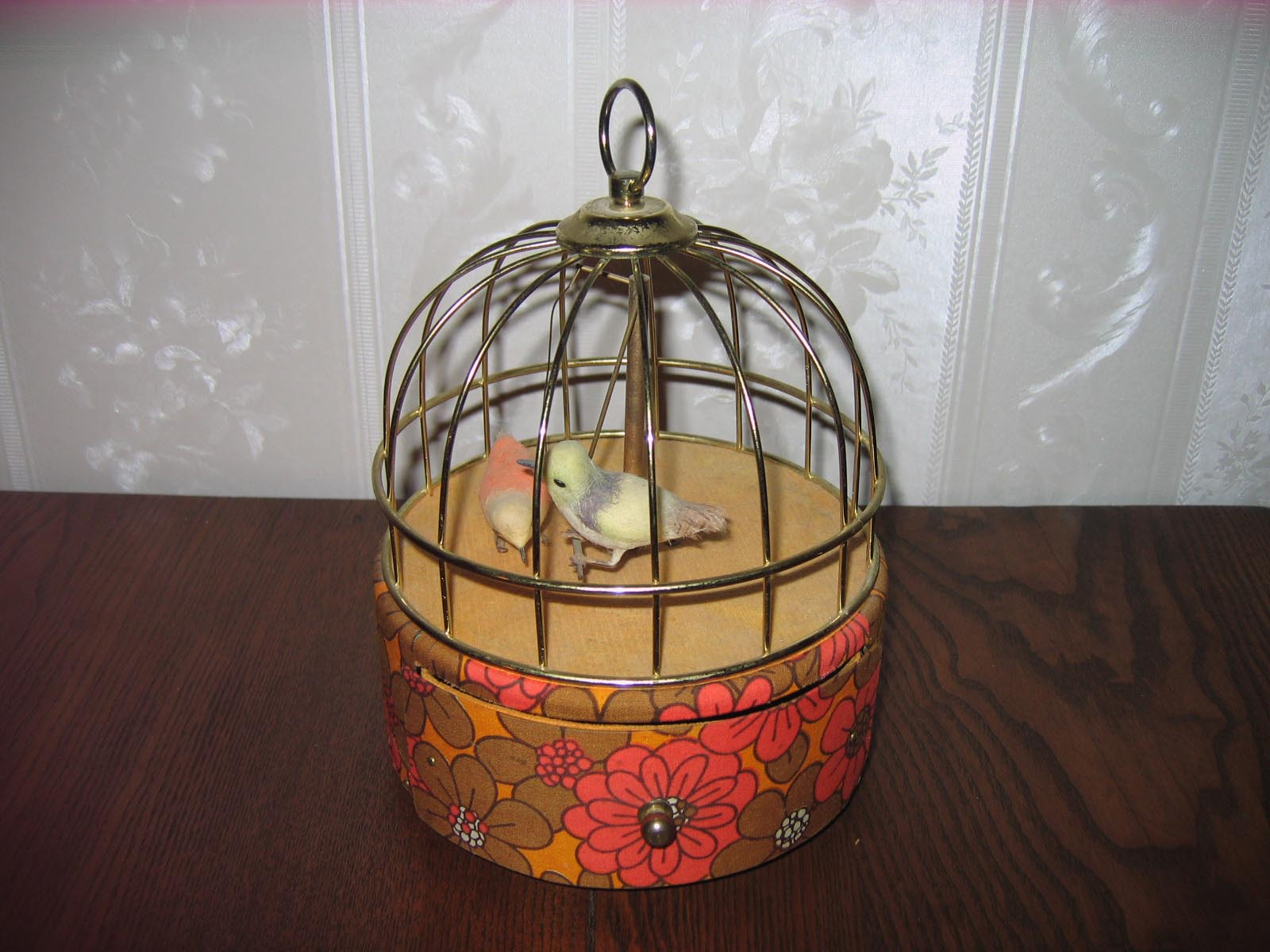 Antique Bird Cage Music Box