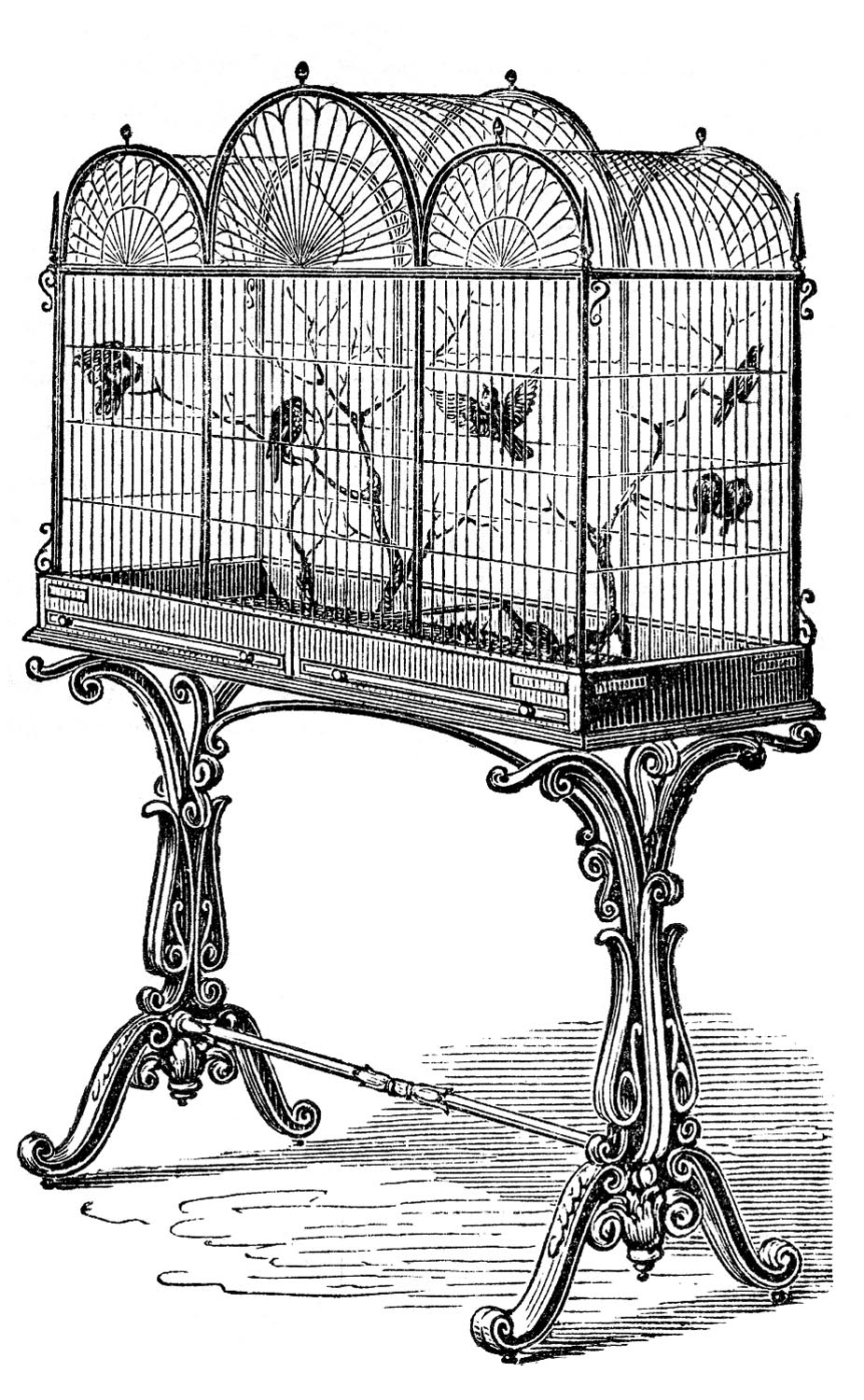 Antique Bird Cages with Stand
