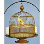 Antique Brass Bird Cage