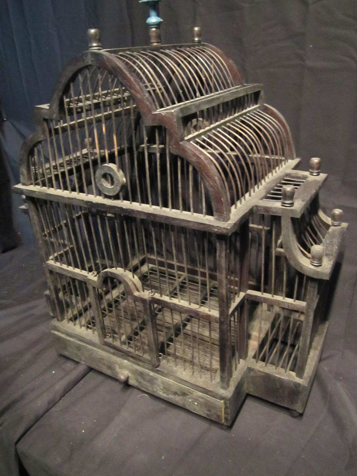 Antique Wooden Bird Cages