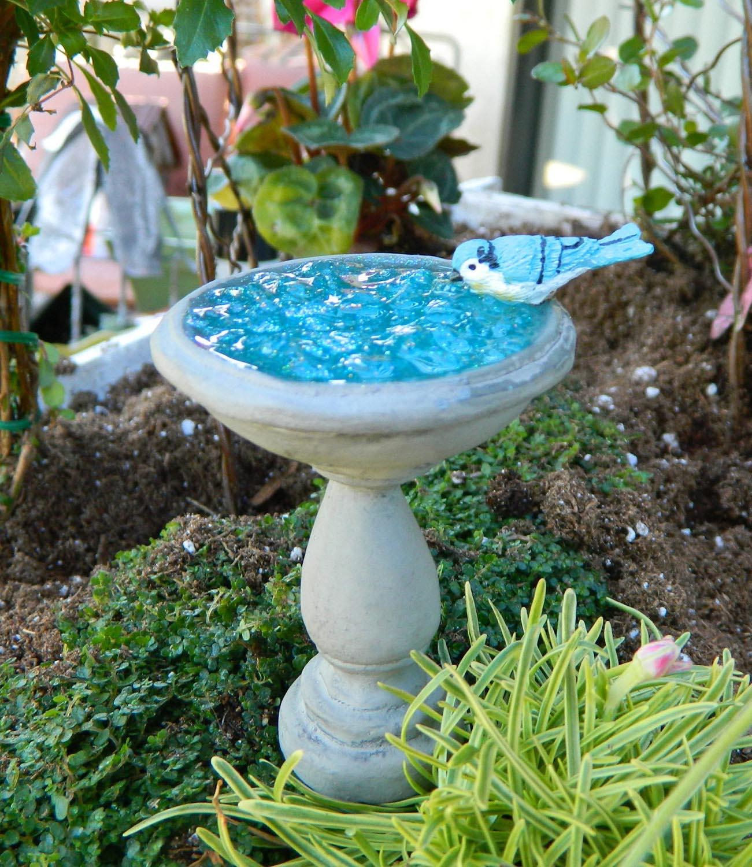 Bird Bath Fairy Gardens