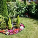 Bird Bath Flower Garden