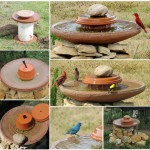 Bird Bath Fountain DIY