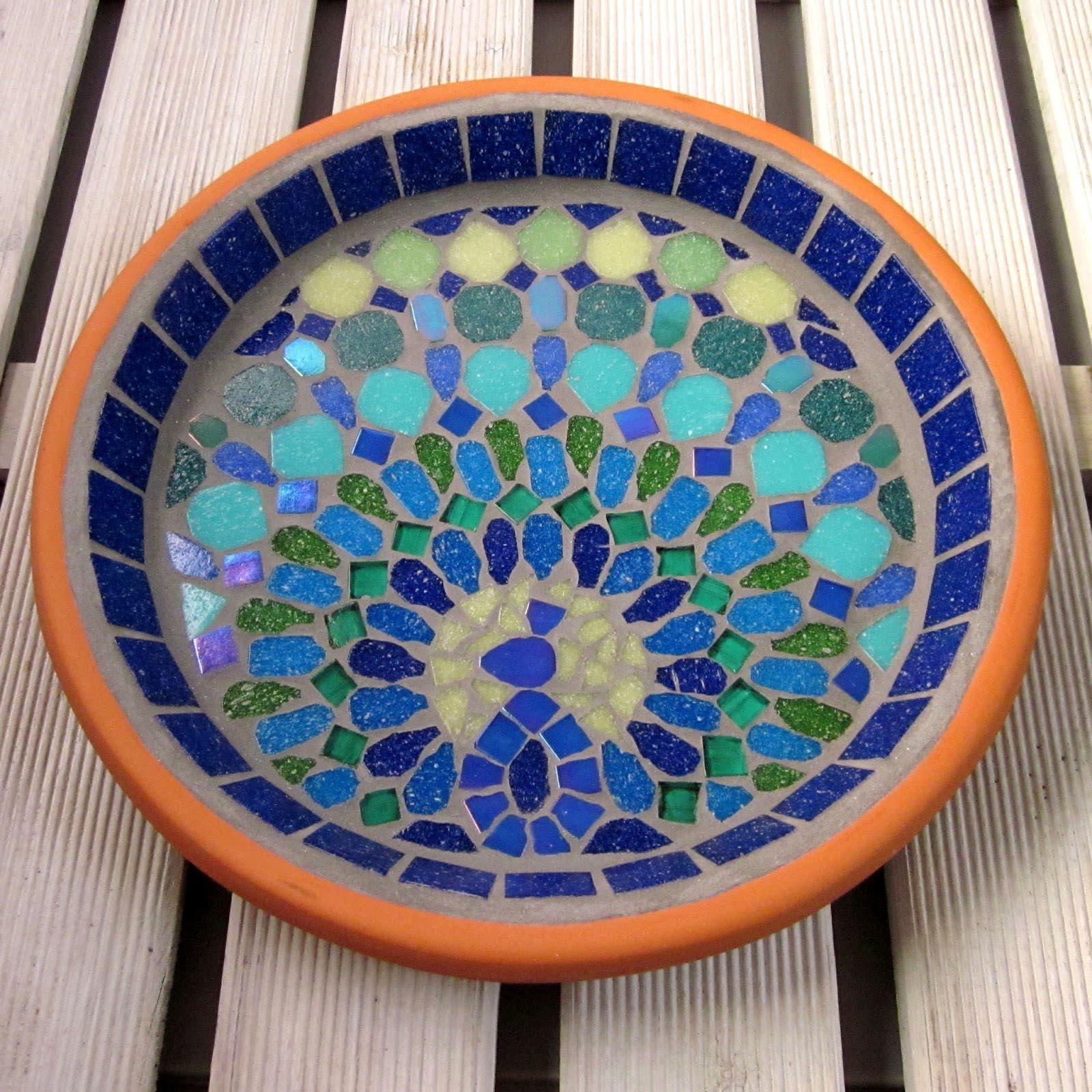 Bird Bath Mosaic Patterns