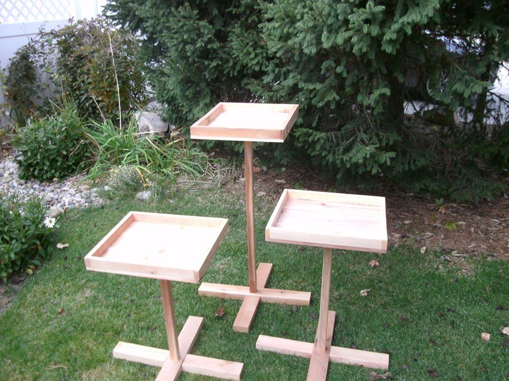 Bird Feeder Stand Plans