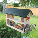 Bird Feeder Station with Planter Stand