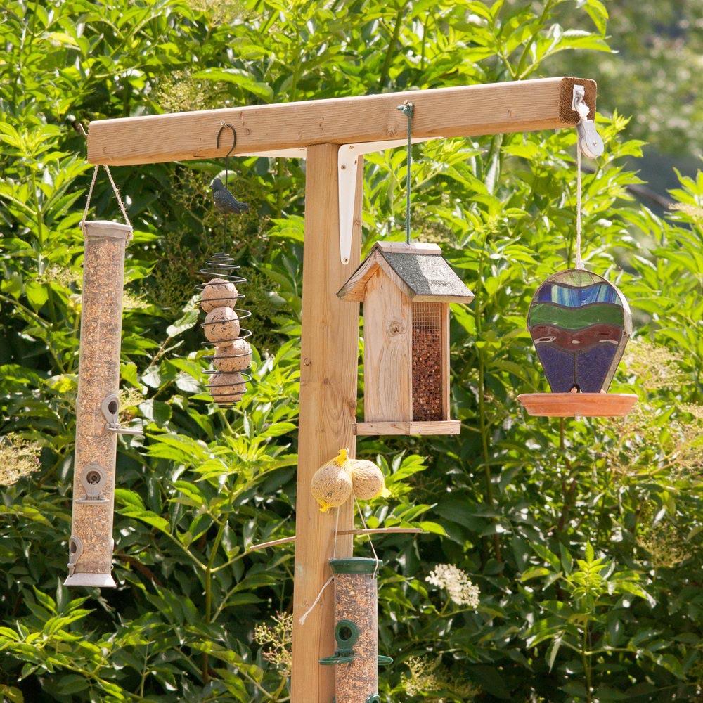 Bird Feeder Station with Planter Stand