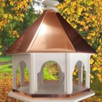 Bird Feeders with Copper Roof