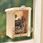Bird Houses Attached to Window