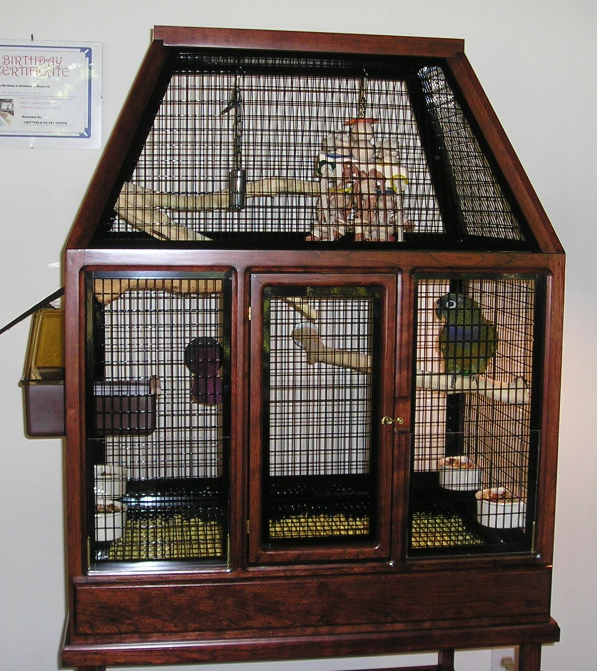 Birds Cage Design Wooden
