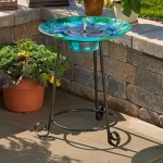 Blown Glass Bird Bath