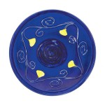 Blue Ceramic Bird Bath Bowl