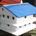 Blue Martin Bird House