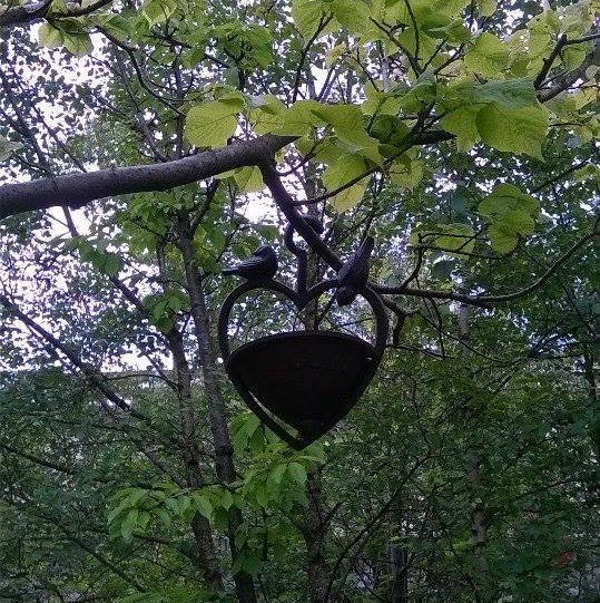 Cast Iron Bird Feeder Station