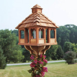 Cedar Bird Feeders Gazebo