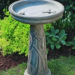 Cement Bird Bath Top