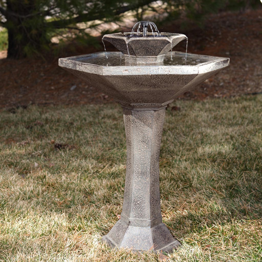 Ceramic Bird Bath Fountain