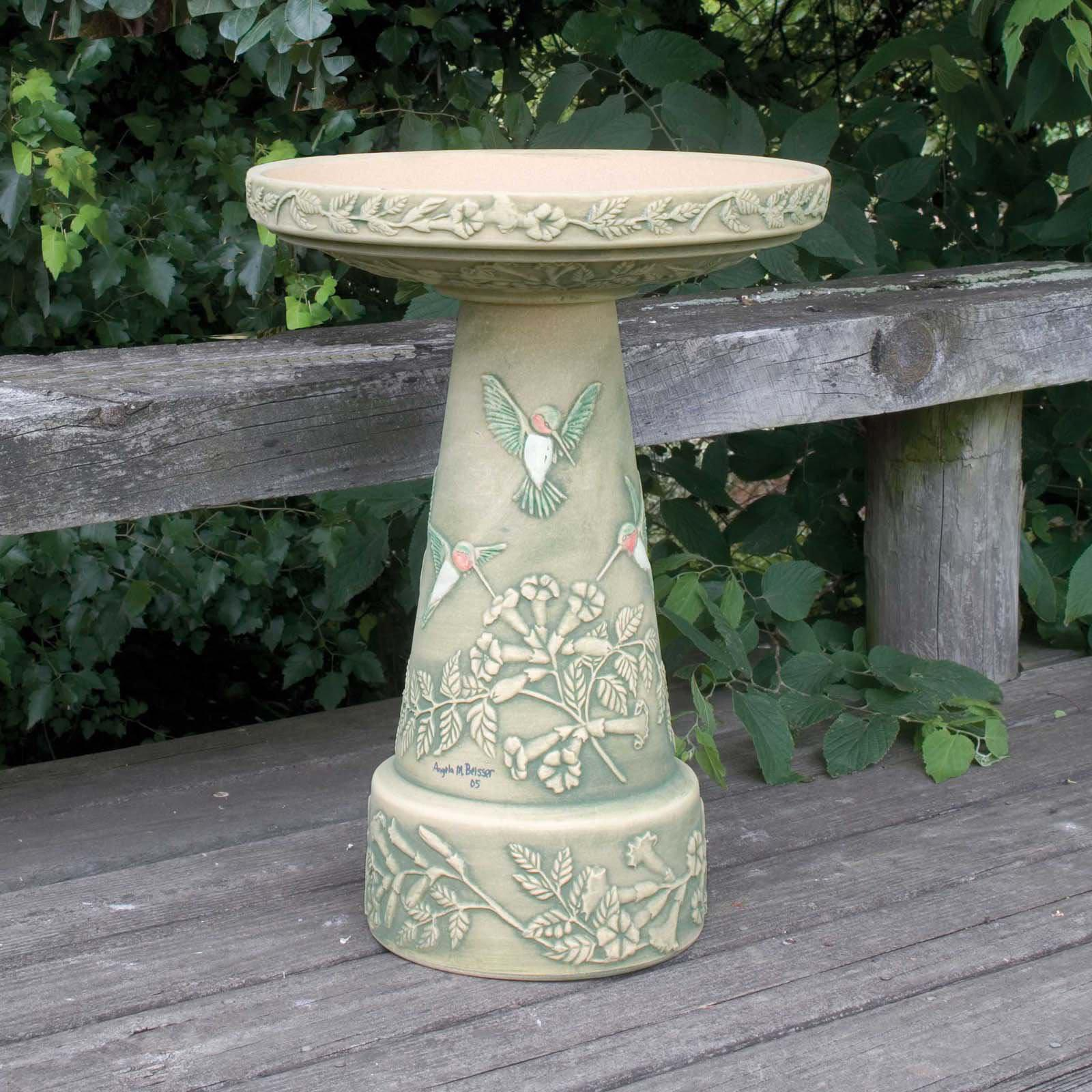 Ceramic Bird Bath Tops