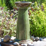 Ceramic Bird Bath with Stand