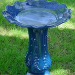 Ceramic Blue Bird Bath