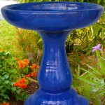 Ceramic Glazed Bird Baths