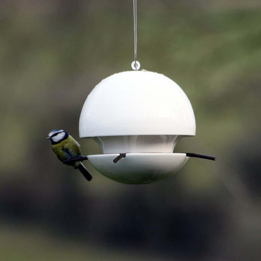 Ceramic Hooded Bird Feeder
