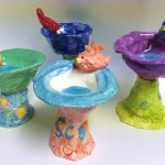 Colorful Ceramic Bird Baths