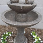 Concrete Bird Bath Fountain