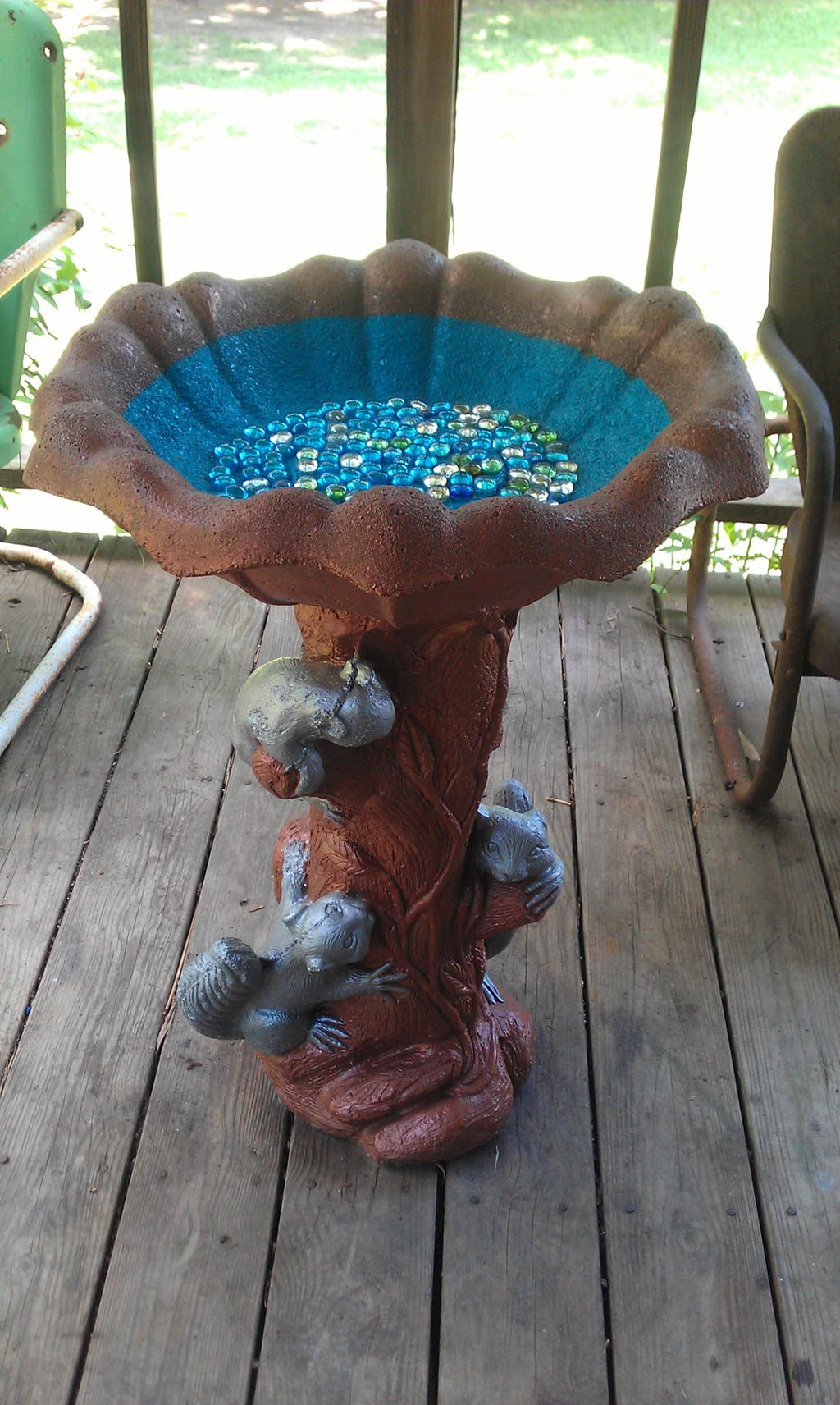 Concrete Bird Bath Top Only
