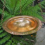 Copper Hanging Bird Bath