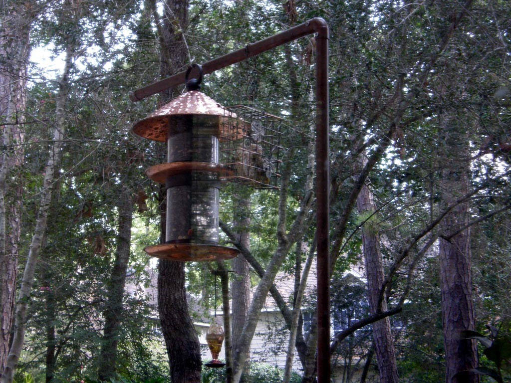Copper Pipe Bird Feeder Pole