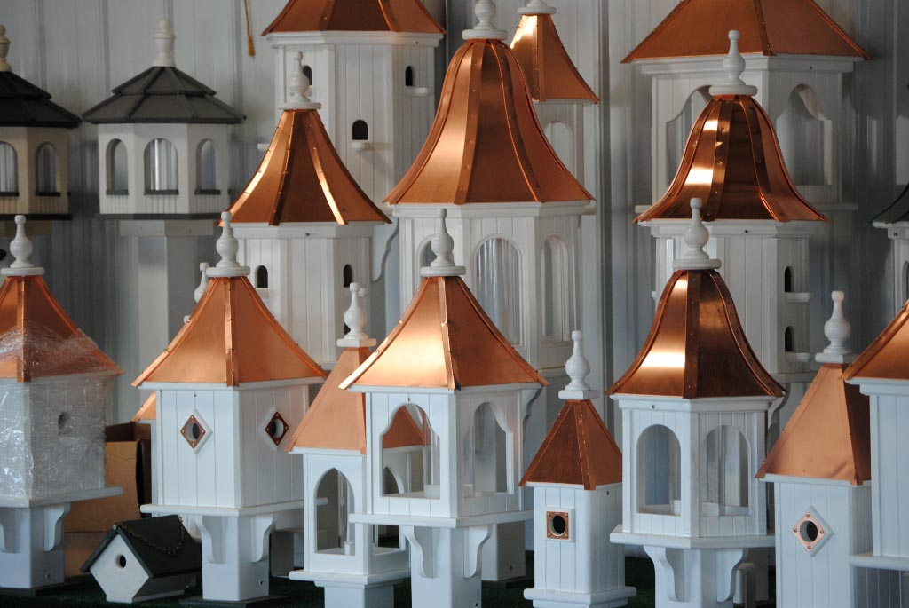Copper Top Bird Feeders