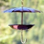 Copper Umbrella Bird Feeder