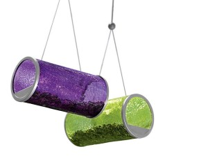 Crackle Glass Bird Feeder