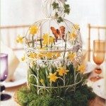 Decorated Bird Cages Centerpieces