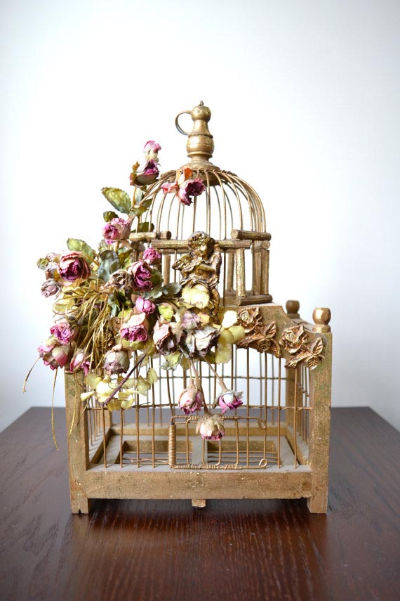 Decorative Wooden Bird Cage