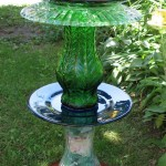 DIY Bird Bath with Found Items