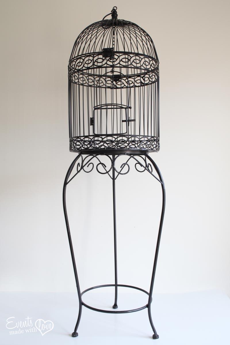 DIY Bird Cage Stand