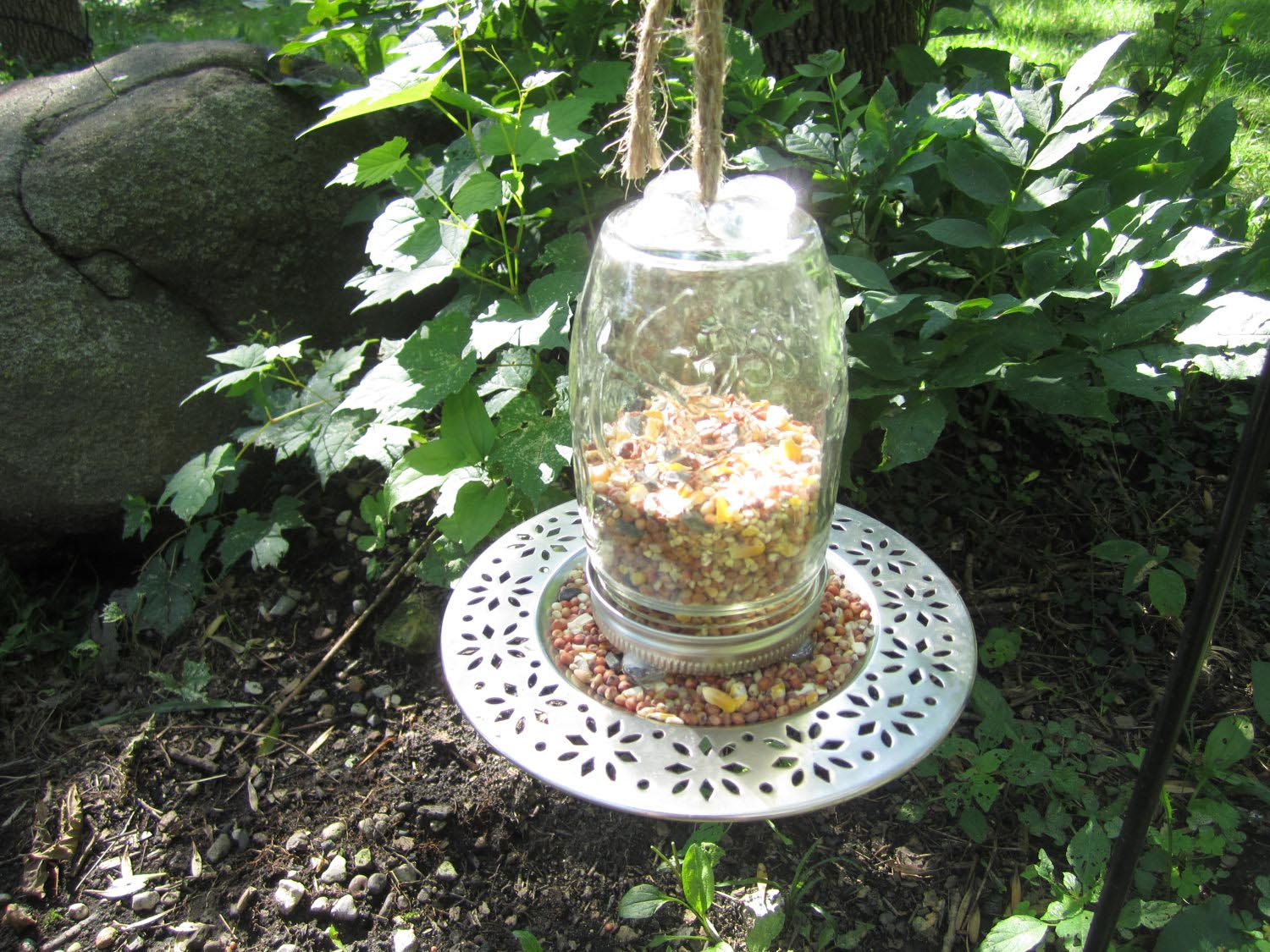 diy mason jar bird feeder birdcage design ideas
