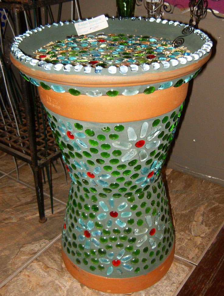 how to make a mosaic bird bath