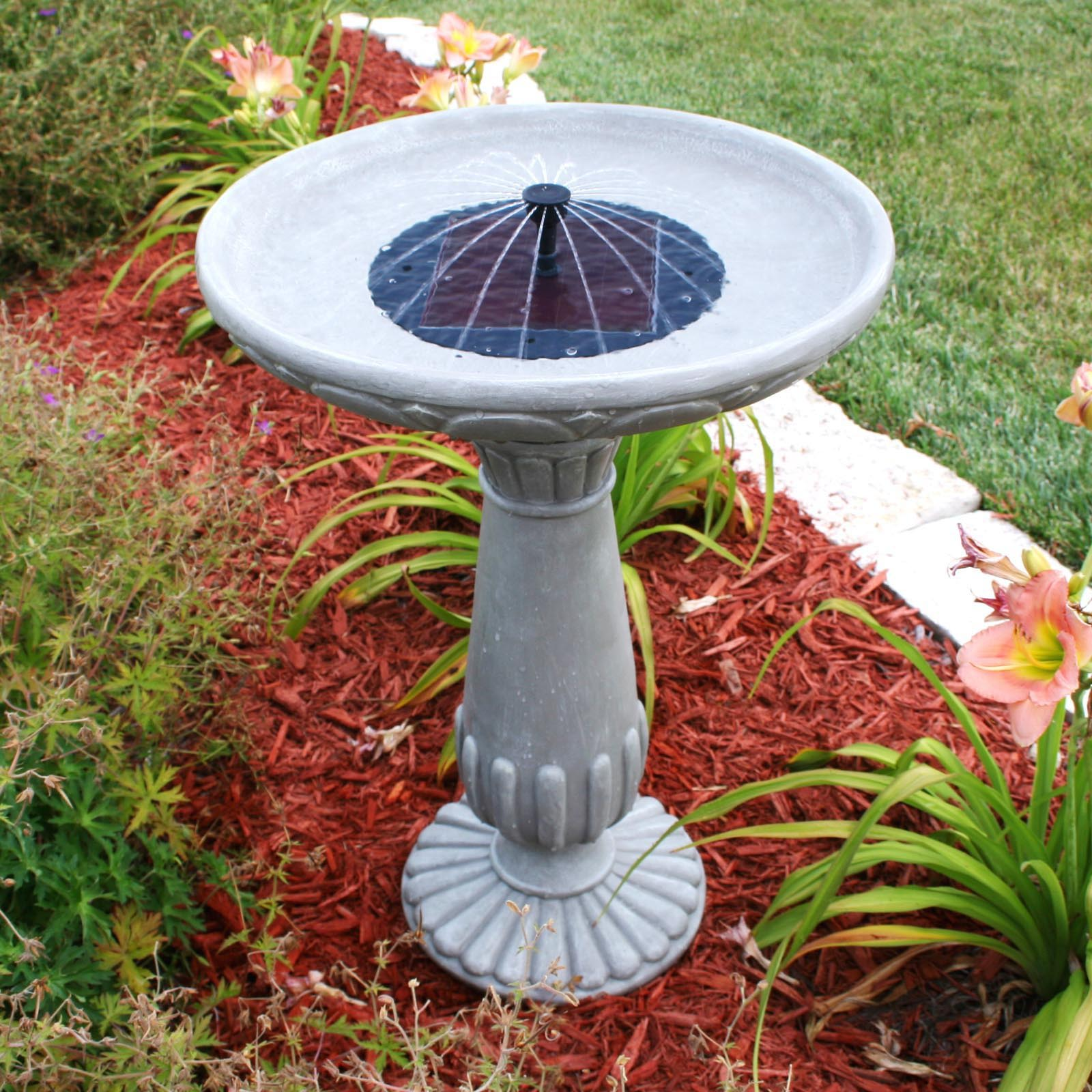 DIY Solar Heated Bird Bath