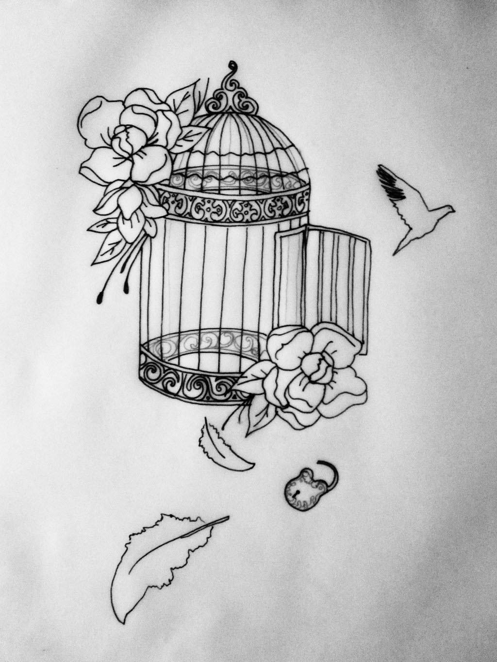 Drawings of Bird Cages