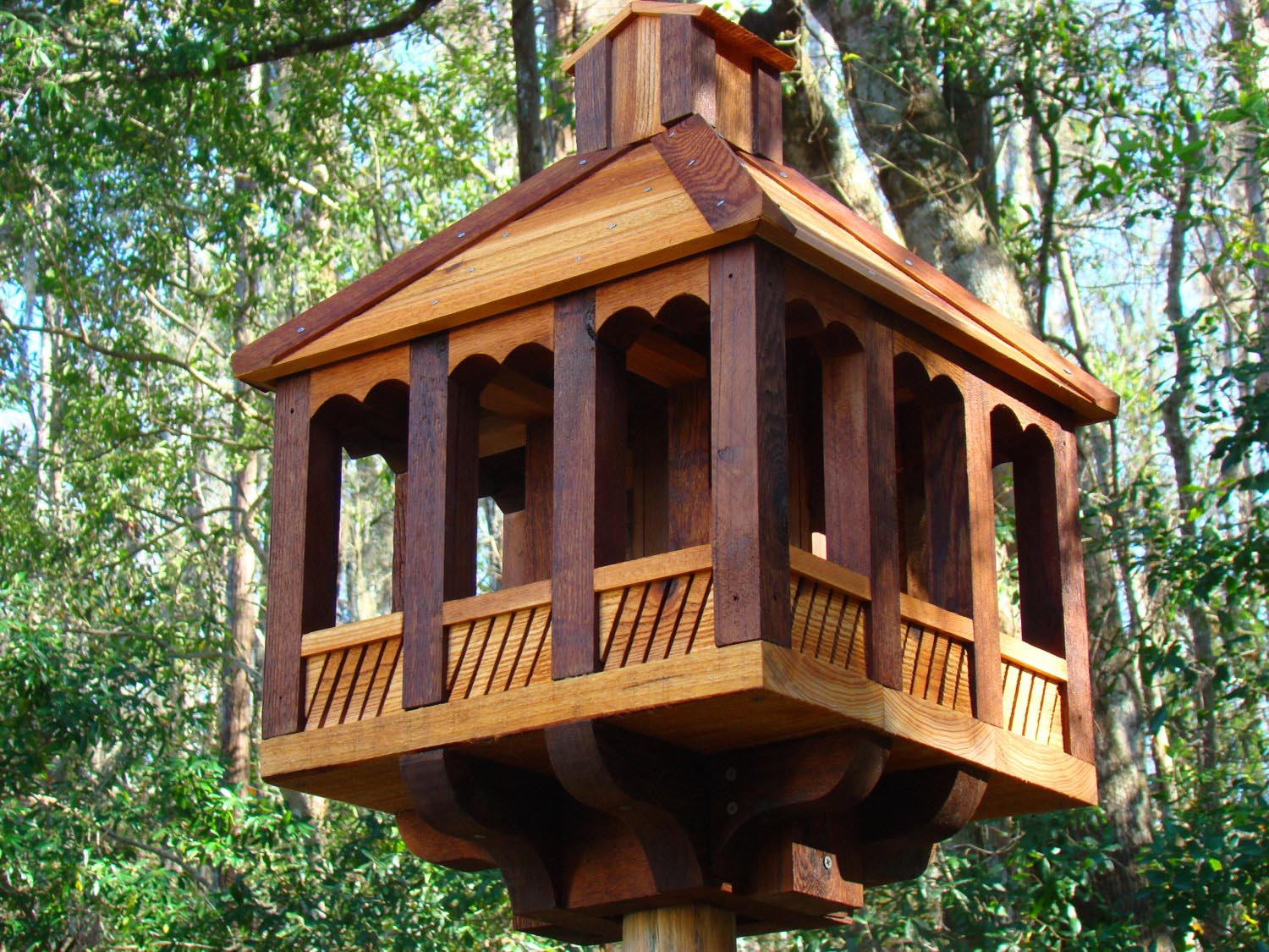 Large Cedar Bird Feeder