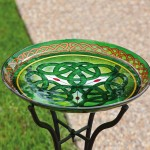 Evergreen Glass Bird Bath