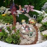 Fairy Garden in Bird Bath