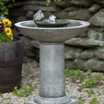 Garden Bird Bath Water Fountain