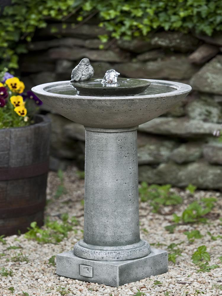 Garden Bird Bath Water Fountain