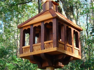 Gazebo Bird Feeder Pole Mounted