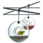 Glass Ball Bird Feeder