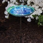 Glass Bird Bath Bowl